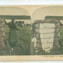 Image of Standing by cotton bales - Print, Photographic