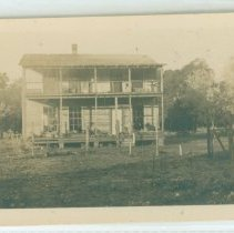 Image of Unidentified two story porch farmhouse - Print, Photographic
