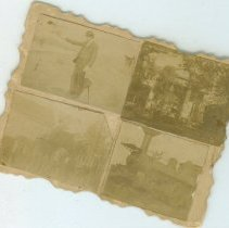 Image of Stamp size prints on card. - Print, Photographic