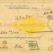 Image of Check:11/16/1898