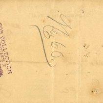 Image of Check:11/16/1898(back)