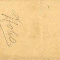 Image of Check:03/15/1899(back)
