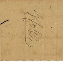 Image of Check: 9/20/1898 (back)