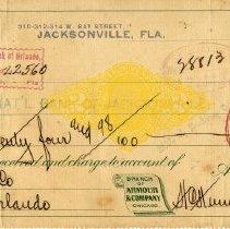 Image of Check: 9/27/1898