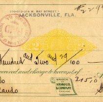 Image of Check:10/29/1898