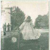 Image of Little girl at Masonic gathering - Print, Photographic
