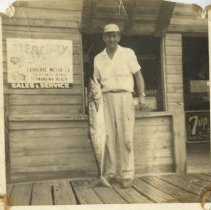 Image of Phil Stewart and king mackerel - Print, Photographic