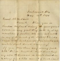 Image of Letter to General Davis from C. D. Willard dated January 29, 1880 - Letter