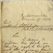 Image of Letter to Sister from George dated Sept. 11th 1875 - Letter