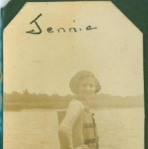 Image of Jennie Hubbell posing on a dock.