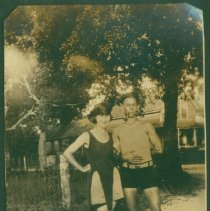Image of Laura and a man -- August 1922 - Print, Photographic