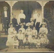 Image of Captain Tom Lasserre Family - Print, Photographic