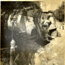 Image of Excavation of fire hydrant - Print, Photographic