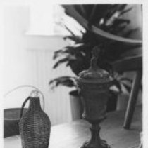 Image of Wine bottle and Vase