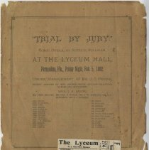 Image of Playbill Front