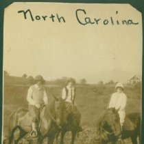 Image of Group picture of horseback riders. - Print, Photographic