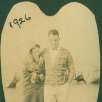 Image of Couple walking on the beach - Print, Photographic