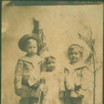 Image of Three costumed children - Print, Photographic