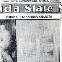 Image of Fernandina's 1824 Charter Reflects Changes of Times. - Clipping, Newspaper