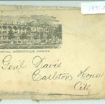 Image of Empty envelope to General W G M Davis  - Letter