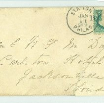 Image of Empty envelope to General W G M Davis