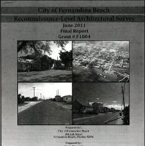 Image of City of Fernandina Beach:  Reconnaissance-Level Architectural Survey - Disc, Compact