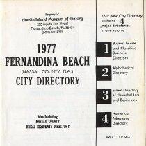 Image of 1977 Fernandina Beach (Nassau County, Fla.) City Directory - Directory, City