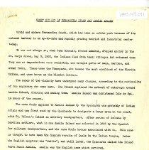 Image of Short history of Fernandina Beach and Amelia Island - Manuscript