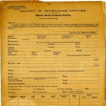 Image of Report of Appraising Officer   - Report