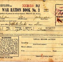 Image of War Ration Book for Lela M. Johnson - Book, Stamp