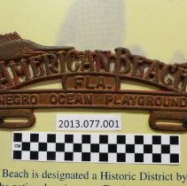 Image of American Beach license plate holder - Plate, License