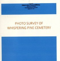 Image of Photo-survey of Whispering Pine Cemetery - Pamphlet
