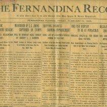 Image of Fernandina Record dated February 12,1909 - Newspaper