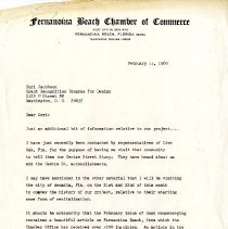 Image of Letter to Dori Jacobson