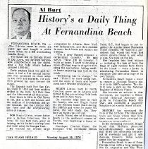 Image of History's a Daily Thing At Fernandina Beach - Newspaper