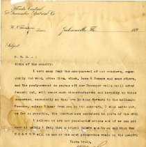 Image of Letter to H. R. Duval from W. N. Thompson