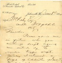 Image of Letter from W. N. Thompson to T. W. Roby