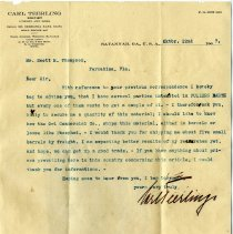 Image of Letter to Scott M. Thompson from Carl Furlilngs