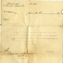 Image of Letter from W. N. Thompson to Mr. D. M. Fleming  - Letter
