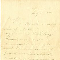 Image of Letter from Helen Ribbersbach to John W. Thompson  - Letter