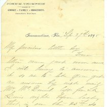 """Image of Letter from Mrs. Thompson to """"My precious little boy"""" -- could be Scott or Lewis - Letter"""