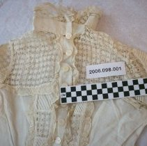 Image of Victorian linen dress with lace