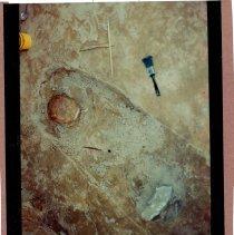Image of Color print of opened grave at Dorion archeological dig. - Print, Photographic