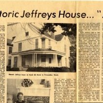 "Image of Historic Jeffreys House...""A gift of love"" - Article"