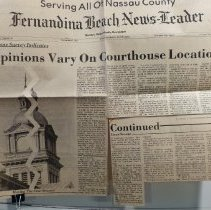 Image of Newspaper article on Courthouse location - Clipping, Newspaper