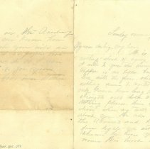 Image of Letter from Mrs. Thompson to Scott concerning the health of W. N. Thompson, Scott's father - Letter