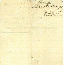Image of Acct. ledger/receipt (back)