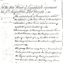 Image of To the Hon. House of Legislature - Correspondence
