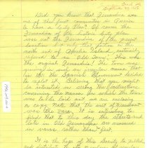 Image of Draft of a letter to the Duncan L Clinch Historical Society - Draft