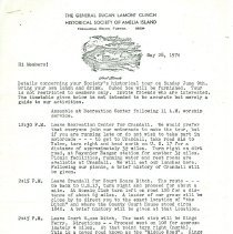 Image of Memo regarding a 6/09/1974 day trip - Letter